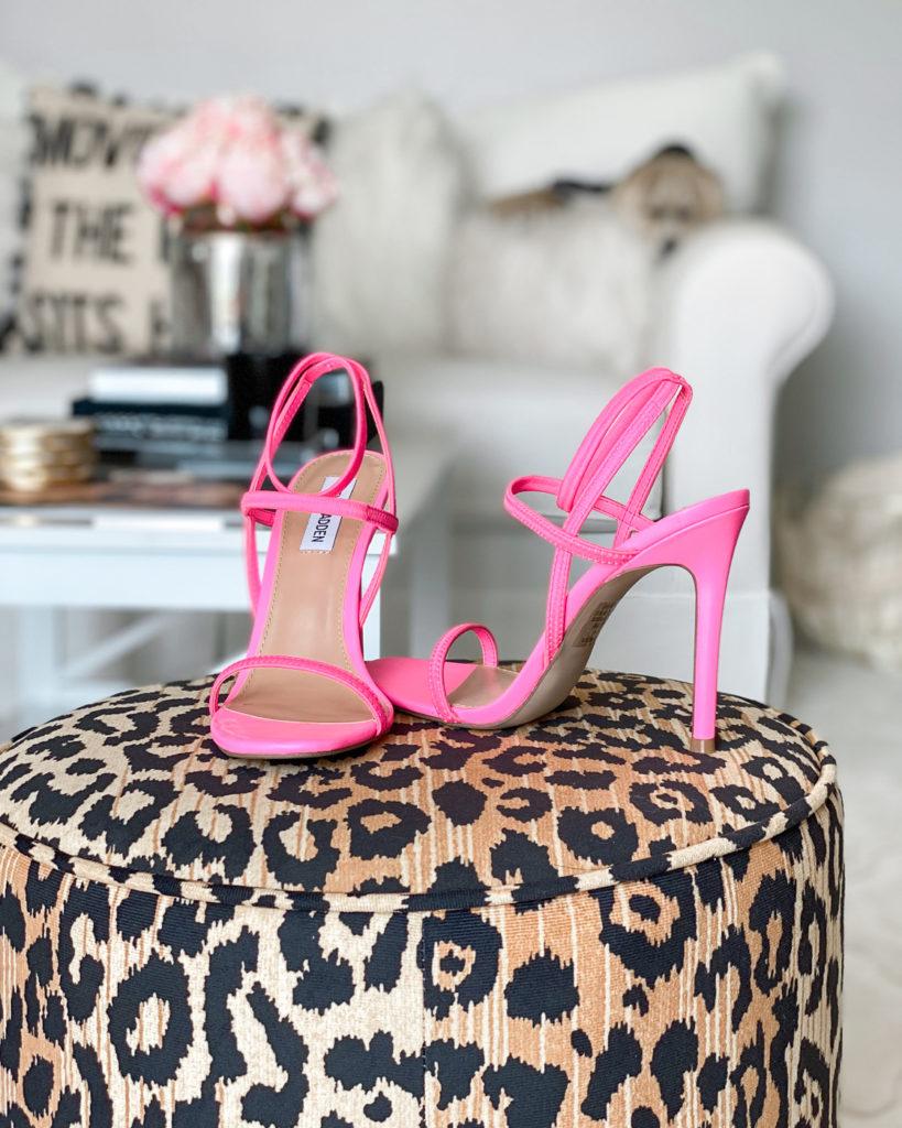 walmart neon pink steve madden sandals