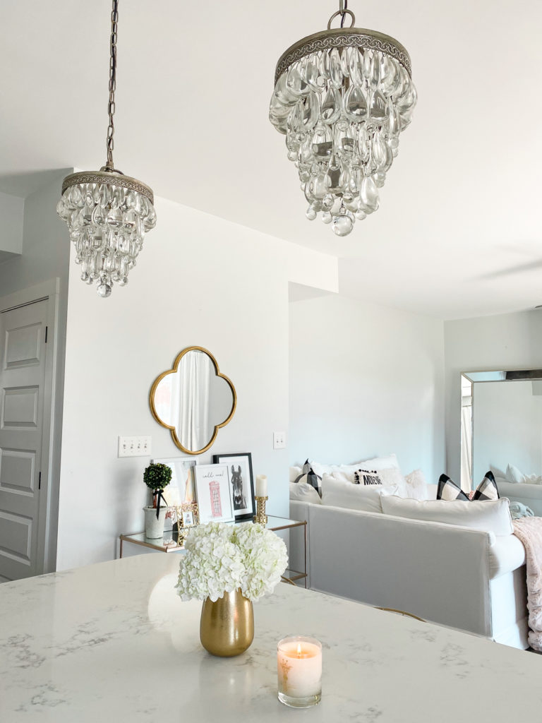 crystal pottery barn kitchen chandeliers