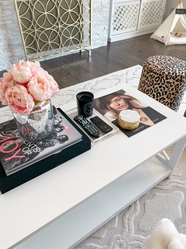 chic white wayfair coffee table