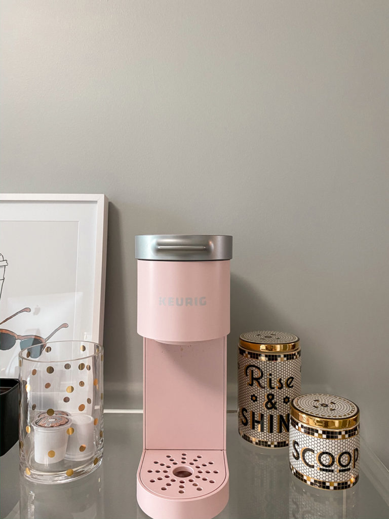 glam home office coffee station