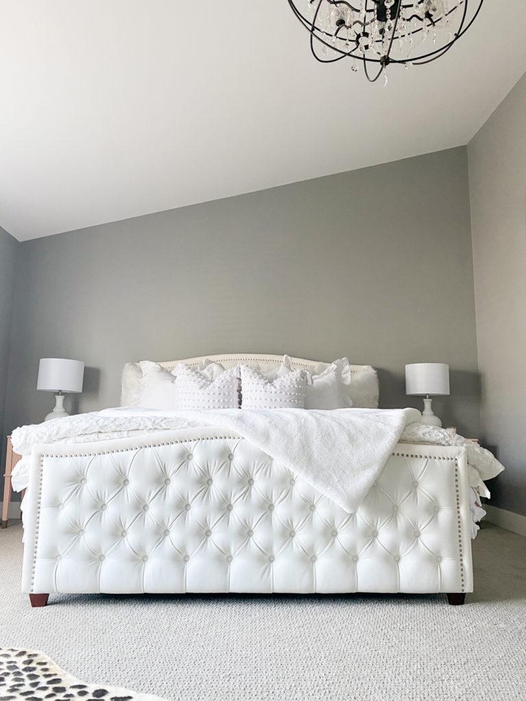 all white master bedroom