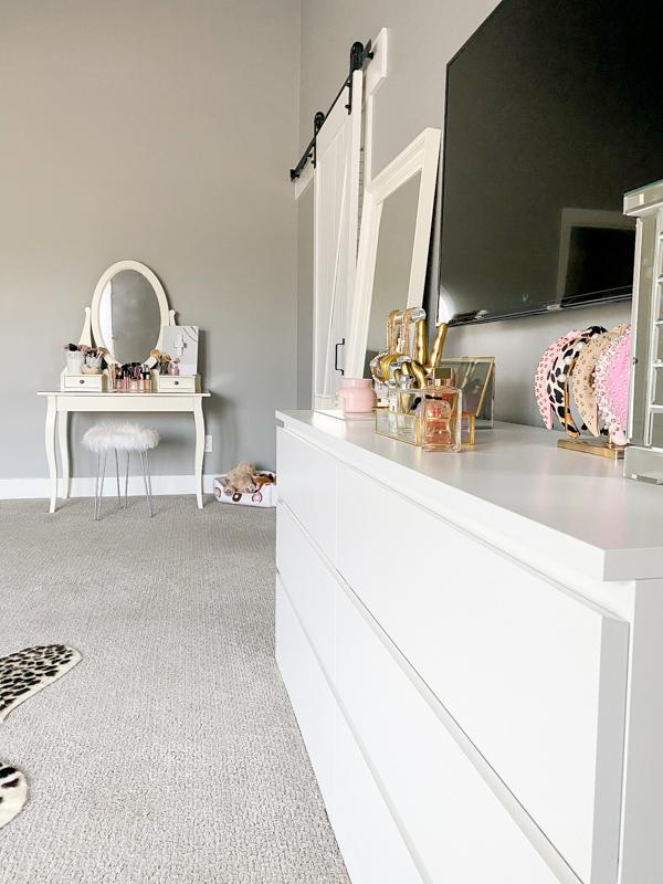 white ikea vanity