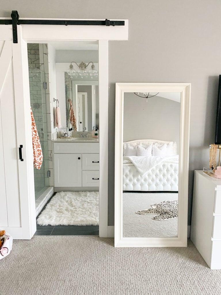 white ikea floor mirror