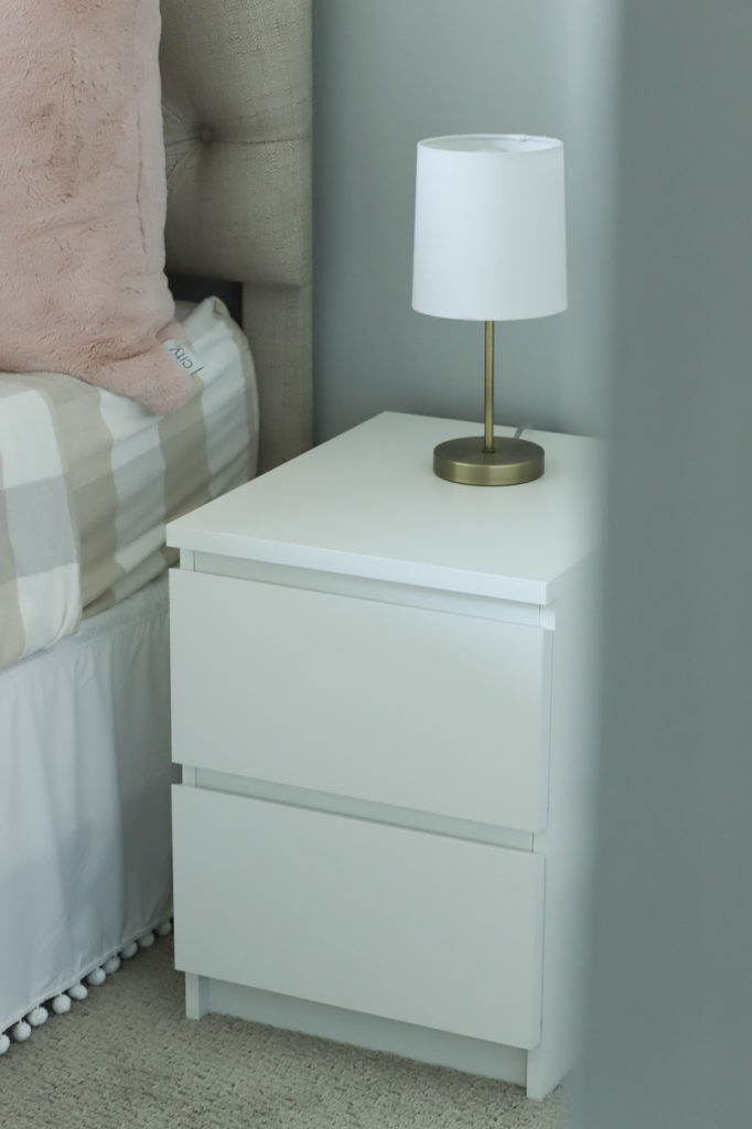 white ikea malm bedside table