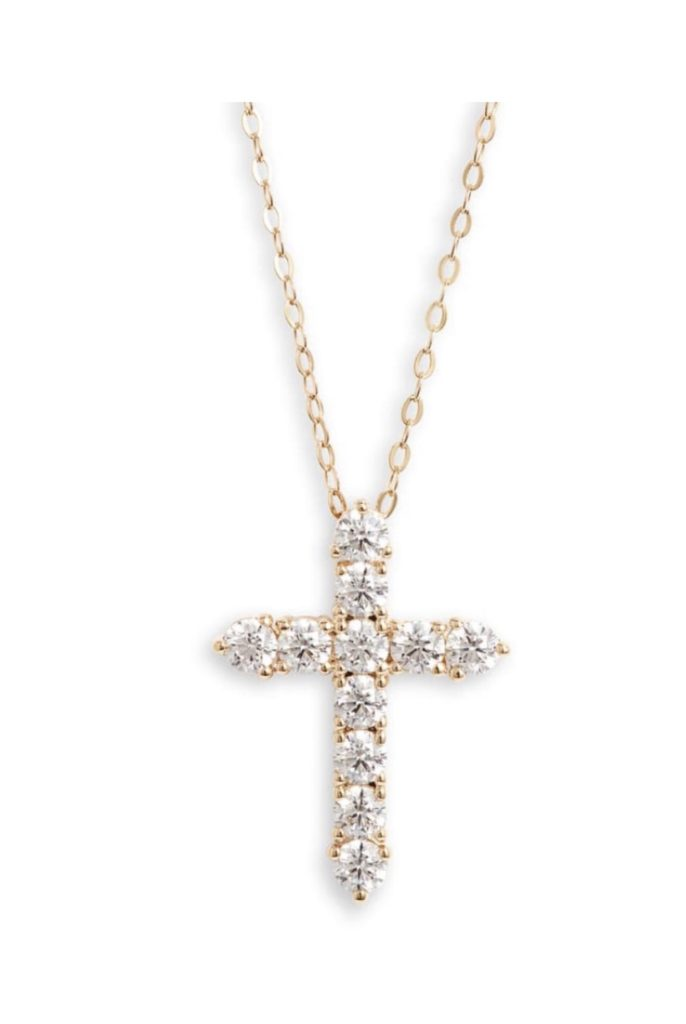 nordstrom gold cross necklace