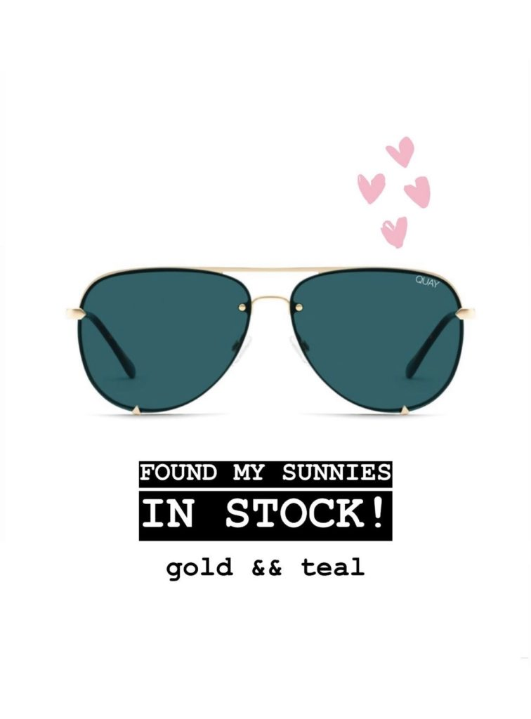 quay teal and gold aviators