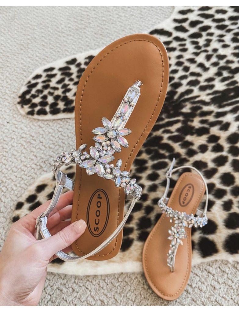 walmart scoop embellished sandals