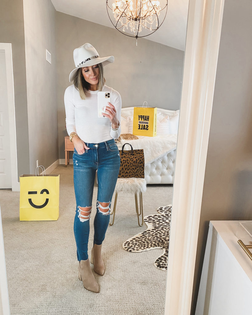 nordstrom anniversary sale bp white ribbed long sleeve top