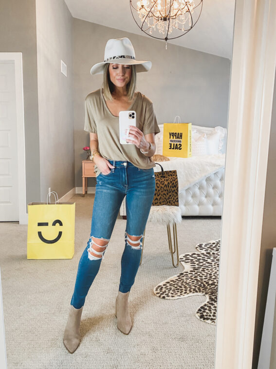 nordstrom anniversary sale all in favor tan tee